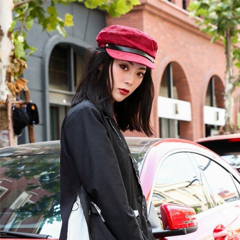2018 Vintage Winter Hüte Für Frauen Mode Damen Baumwolle Britischen Stil Maler Kappen Herbst Feste Taste Baseball Caps Ein GefüHl Der Leichtigkeit Und Energie Erzeugen