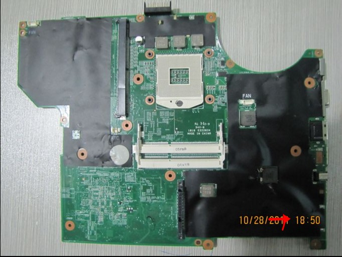 M15X connect with printer motherboard tested by system lap connect board mbx 185 connect with printer motherboard tested by system lap connect board