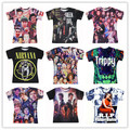 Green Day/NIRVANA Smiley Face/Vampire Diaries/Magcon Boys/trippy print 3d t shirt men/women hip hop t-shirt Drop Shipping