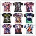 Green Day / NIRVANA cara sonriente / Vampire Diaries / Magcon / trippy print t camisa 3d 3d hombres / mujeres hip hop camiseta de la gota