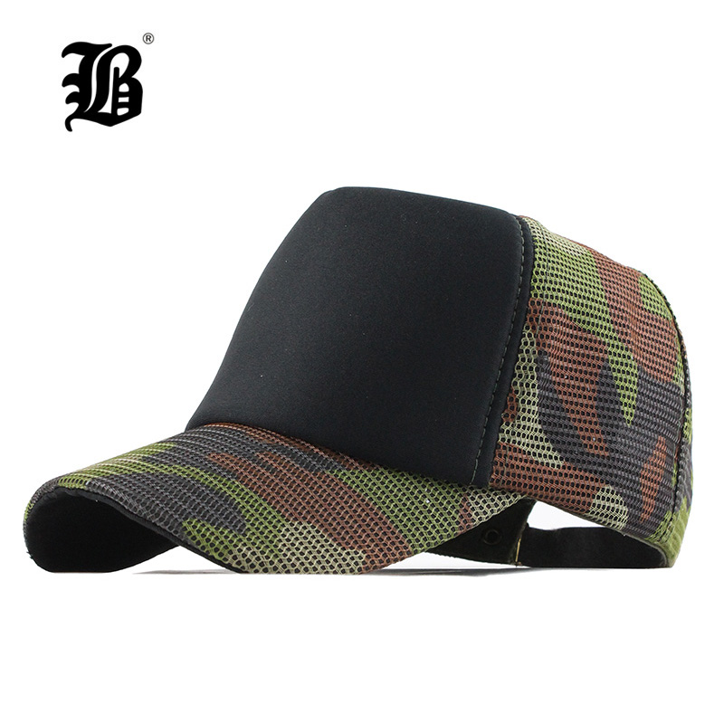 [FLB] Cotton Army   Baseball     Cap   Camouflage Mesh Hat   Cap   For Men Women Composite Material   Cap   Casual Sports Gorras Dad Hats F154
