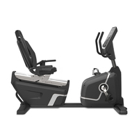 Commercial Horizontal Self-Powered Exercise Bike with Backrest