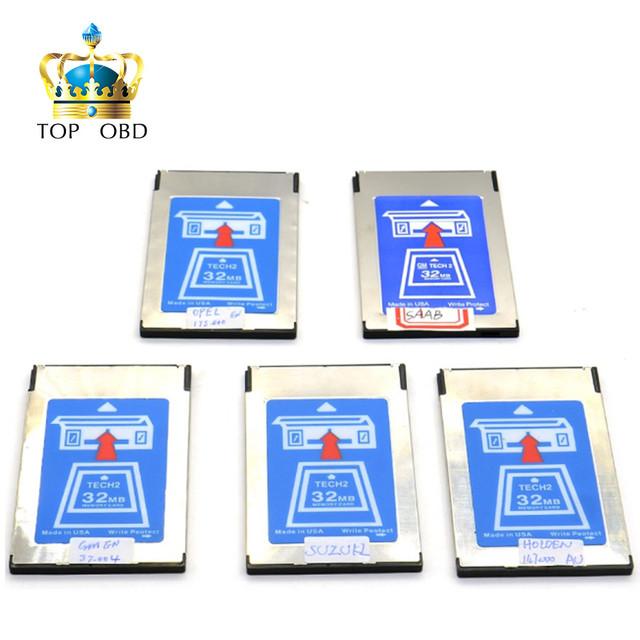 Chegou recentemente Cartão Com 6 Software GM Tech2 Cartão de 32 MB Para GM Tech2 Ferramenta De Diagnóstico GM Tech 2 32 MB Cartão de Memória Livre grátis