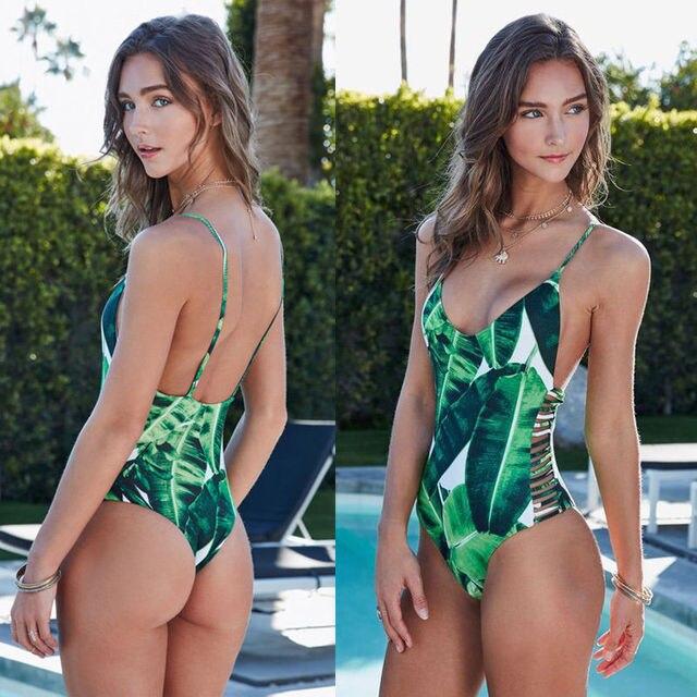 Hot Sexy Frauen Einteiliges Bademode Bikini Monokini -4392