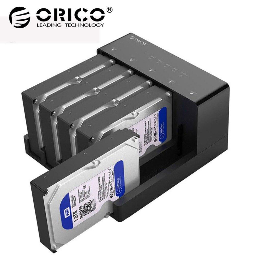 ORICO 5 Bay 2.5/3.5 pouce SATA à USB3.0 HDD Station D'accueil Super Vitesse USB 3.0 Disque Dur enclosure Soutien 10 tb HDD Cas