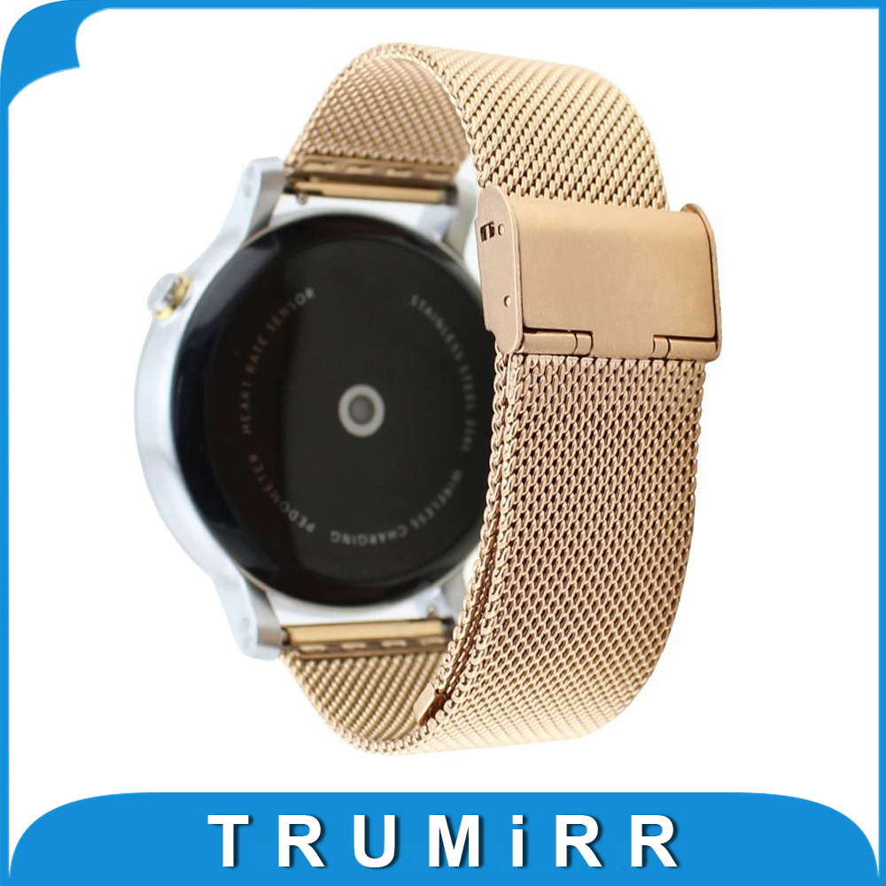Milanese Watch Strap 16mm for Motorola Moto 360 2 Gen 42mm Women 2015 Mesh Stainless Steel Band Bracelet Black Rose Gold Silver stainless steel watch band strap for moto motorola 360 smart watch black silver watchband women men lady male