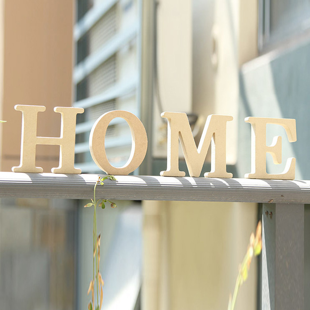 line Shop Density board wood letter garden decoration home