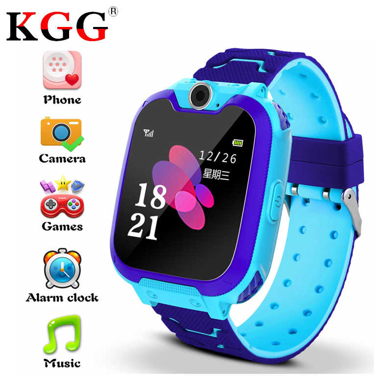 KG10 Smart Watch Phone for Kids Dial Touch Screen Camera Game Music Play Watch SOS Smart Baby Watch for 3-12 Year Old Boy Girl
