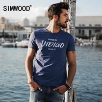 SIMWOOD 2017 New Spring T Shirts Men Short Sleeve O Neck Letter Fashion Vintage Tees TD1126