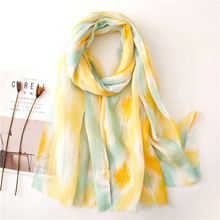 2019 Lemon Yellow Printing Women Scarves Luxury Brand Summer Scarf Designer Ladies Shawls for Autumn Spring Blanket