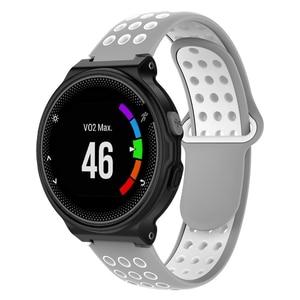 Image 5 - Silikon bilek kayışı saat kayışı Garmin öncüsü 220 için 230 235 630 620 735 yaklaşım S20 S6 S5 GPS spor akıllı saat