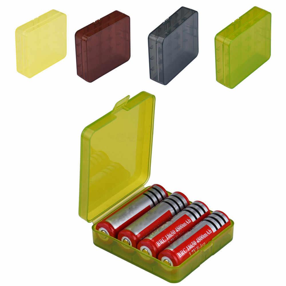 HEYGENIALES جديد حار المحمولة البلاستيك الصلب حالة البطارية حامل صندوق تخزين ل 4x18650 بطاريات 18Jan08 هبوط السفينة * 30