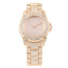 Luxury Full Diamond Women Watches Fashion Women Dress Wristwatch Ladies Bracelet Business Quartz Watch Clock relogio feminino