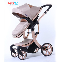 Бренды AIMILE детская коляска 3 в 1 коляска для детей автомобиля poussette коляска зонтик коляска Высокое Мнение Коляски Складной