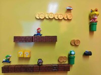Multi Choice 3D Super Mario Bros. Princess Fridge Magnets Refrigerator Message Sticker Funny Kids Children Toys Birthday Gift