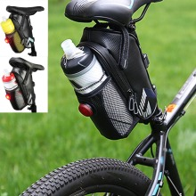 Outdoor Cycling Mountain Bike Back Seat Pouch Saddle Bags Waterproof Bicycle Bottle Bag With Tail Light ALS88