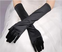 new Hot Women Flapper Gloves Opera/Elbow/Wrist Satin Finger Long Gloves Elbow Sun Protection Gloves Opera Party Prom Gloves