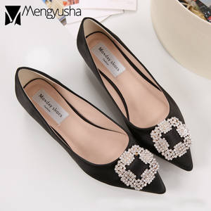 6e3667af6bc Mengyusha crystal woman luxury brand pointed toe flats