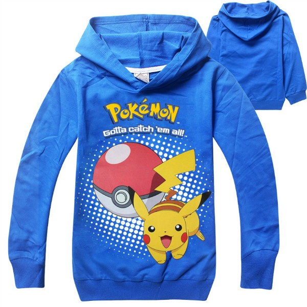 pokemon costume Hoodie toddler boys girls hooded pullover full sleeve tops children clothes pink black Size for 4 5 6 7 8 years (6)