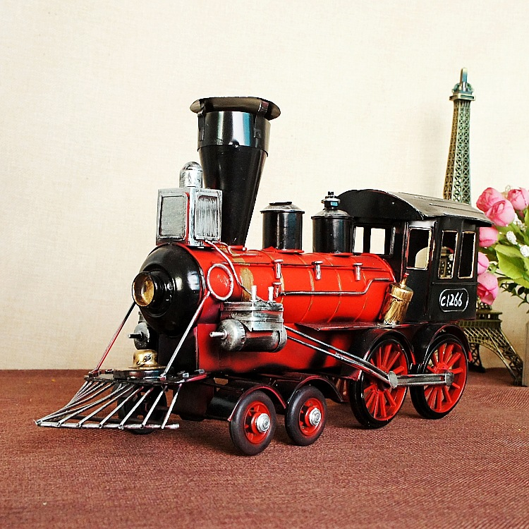 Vintage Head Model Iron Simulation Model Engine Crafts classic collection model  Metal Decoration Train Steam 7290 купить