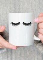 Canecas copos de café do casamento Engagement Presente Cílios maquiagem copo se envolver em casa Máquina de Lavar Louça & Cofre Forte da Microonda cerveja chá decalque mugen