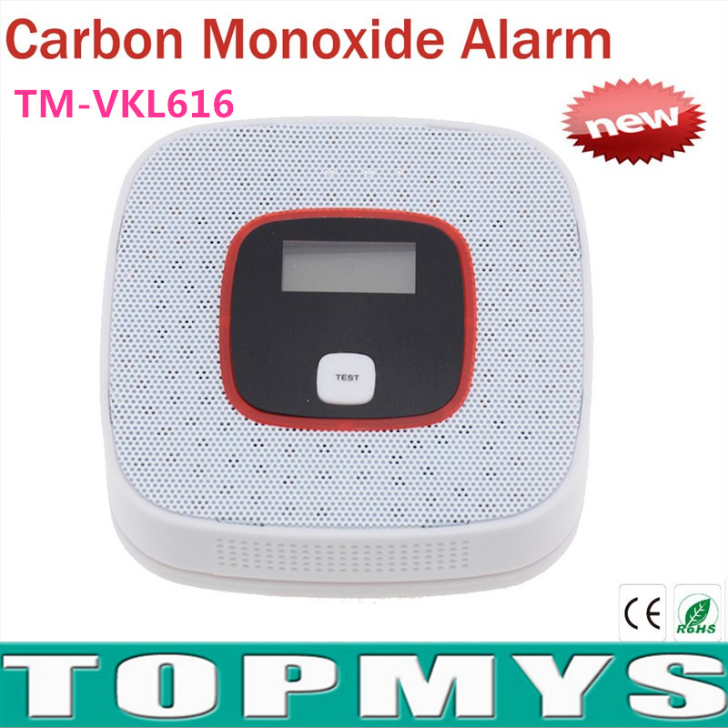CO Carbon Monoxide Detector Tester Fire Alarm Monitor CO Sensor Detector with LCD For Home Security alarm Safety TM-VKL616 sensitive lcd digital backlight security 85db carbon monoxide co gas detector tester sensor alarm for home office