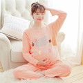 2017 Spring Maternity Pajamas Set Women Nursing Pajama Feeding Sleepwear Cotton Blend Long-sleeve Homewear Plus XXL