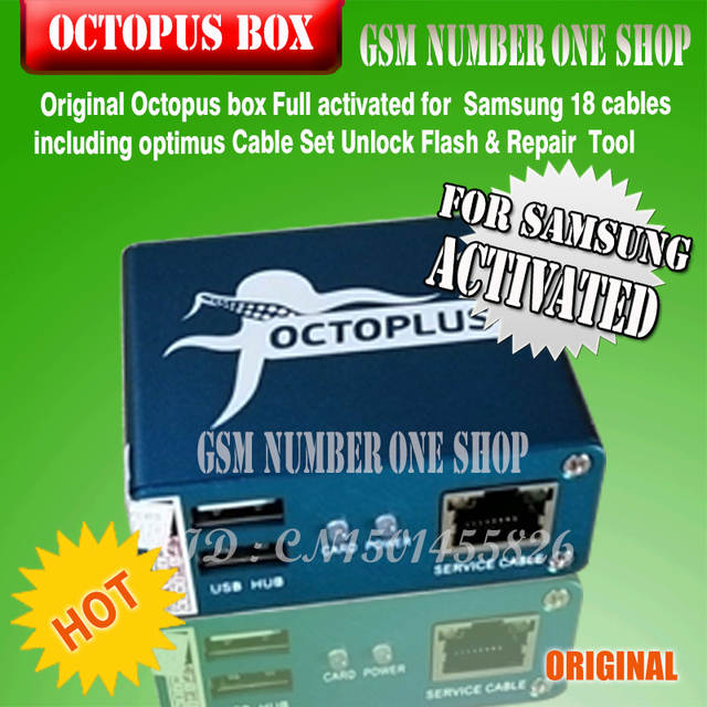 US $143 8 |100% Original new Octopus box for Samsung imei repair and unlock  with 18 cables-in Telecom Parts from Cellphones & Telecommunications on