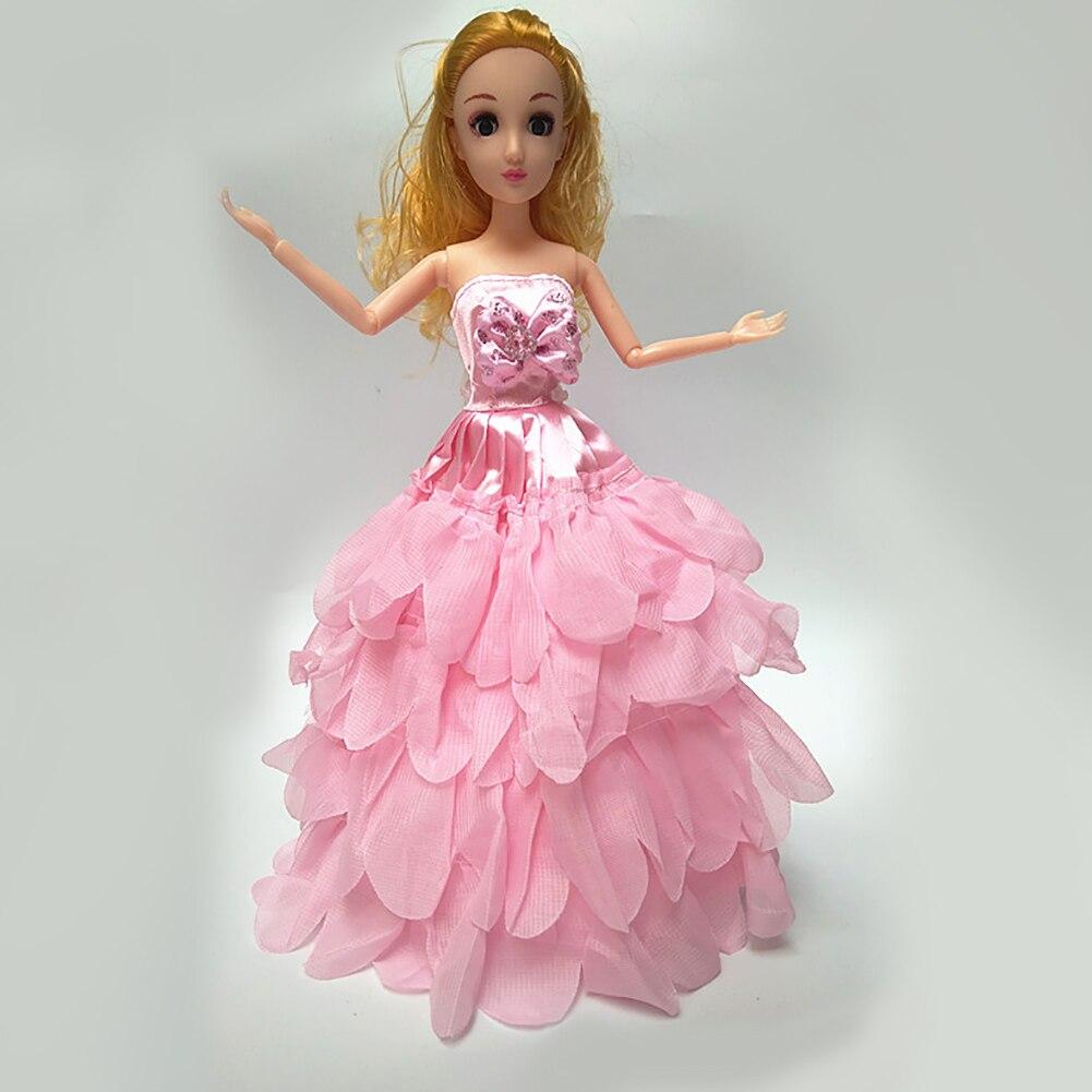 5 unids muñeca vestido de boda bowknot Encaje partido ropa para ...