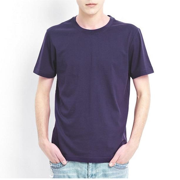 Täglich Casual Plain Blank T Shirts Männer O Hals Kurzarm Slim Fit - Herrenbekleidung - Foto 4