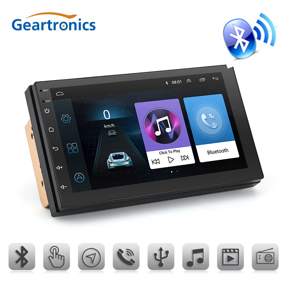 7 inch 2 Din Android GPS Navigation Car Radio Universal Car Multimedia MP5 Bluetooth FM USB Touch Screen Car Audio Stereo podofo 2 din 7 touch android 8 0 universal car radio audio gps navigation bluetooth car stereo fm usb car multimedia mp5 player