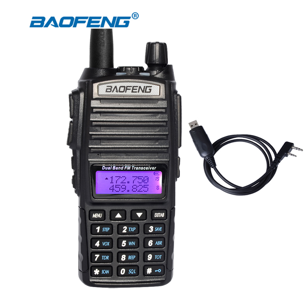 Baofeng UV82 Walkie Talkie Dual Band VHF UHF 137 174 400 520MHz Two Way Radio Transceiver