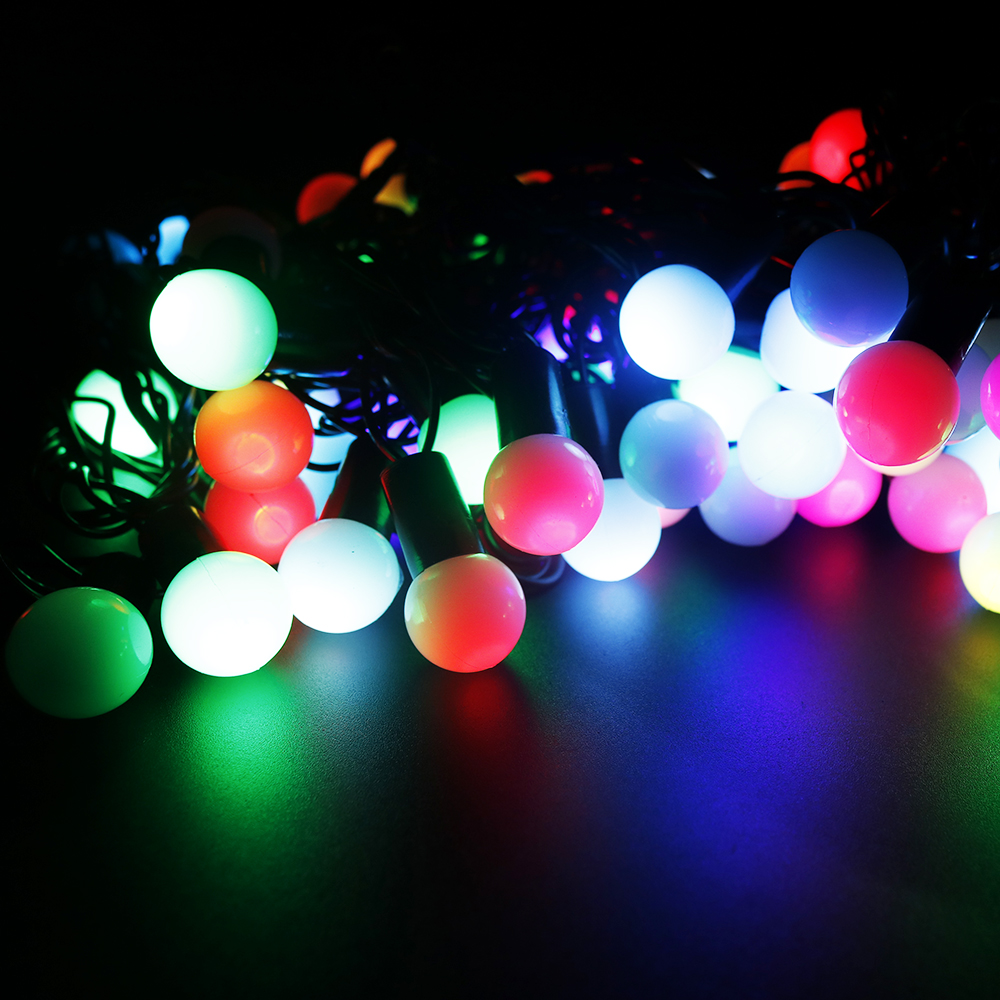 Christmas string 10M 100Leds Ball String Light Change RGB color LED Holiday Light For Wedding readroom living room birthday part