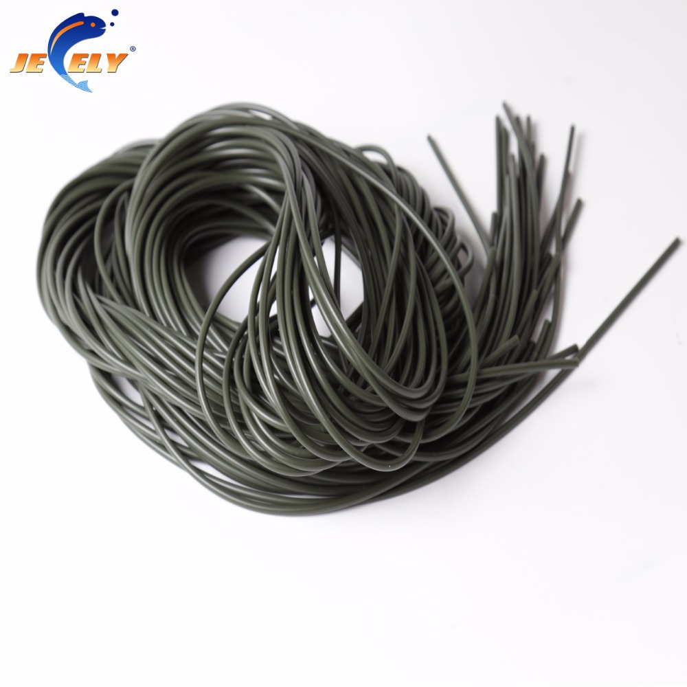 1.5x3.0mmx2m Brown or Dark Green Color Carp Fishing Rigs Elastic Silicone Tube Carp Fishing Accessories