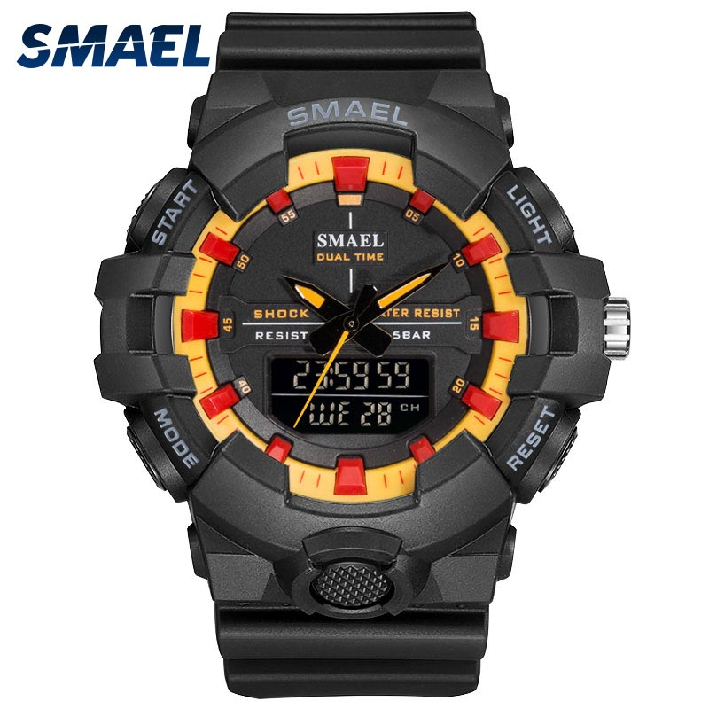 23db25a551239 Men Watches Waterproof 50M SMAEL Sport Watch LED Clock Men Army Watches  Alarm relogio montre 1642B