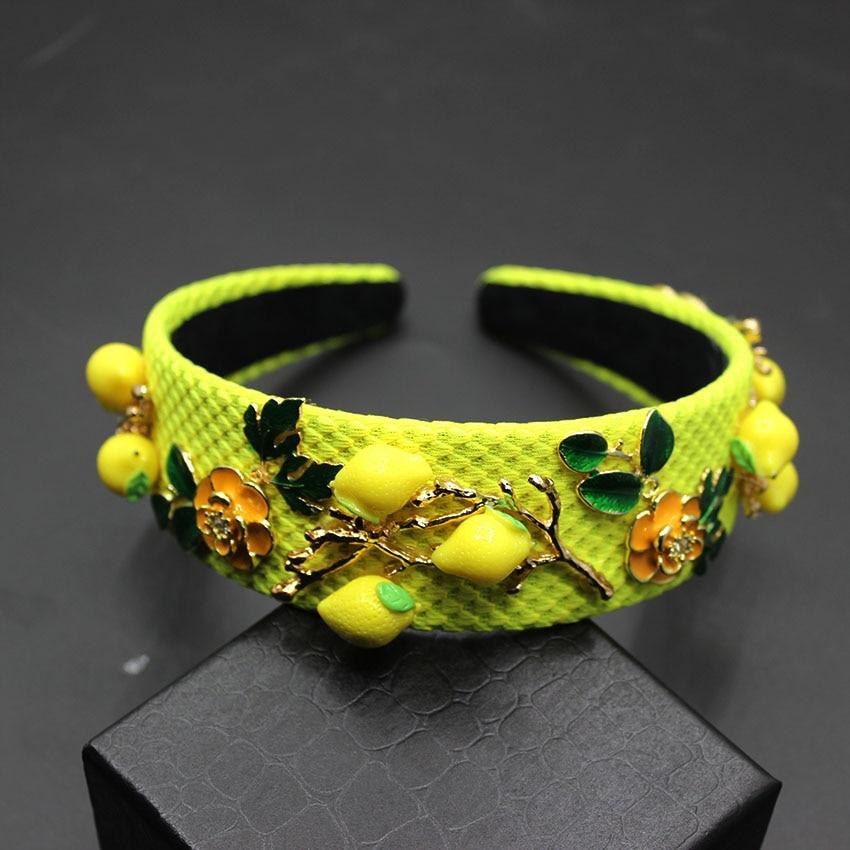 2017 New Tiara Rhinestone Luxury yellow Charm Vintage Baroque Crown Crystal Headband Wedding Hair Accessories235