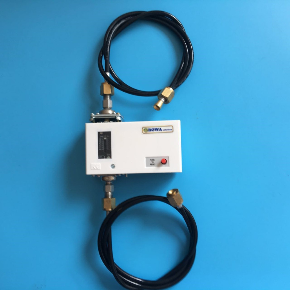 Pressure switch lube oil failure cutout for HCFC,CFC and HFC refrigeration equipment or air conditioner replace Danfoss MP55 1 8mpa low pressure gauge for r404a r22 r407c and r134a indicates pressure value in air conditioner or air dryer machine