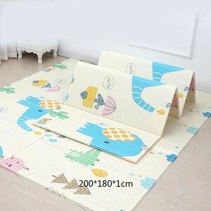 Image 5 - 200*180cm esteira do jogo do bebê dos desenhos animados dobrável xpe quebra cabeça esteira das crianças almofada de escalada do bebê caçoa tapetes speelkleed jogos do bebê