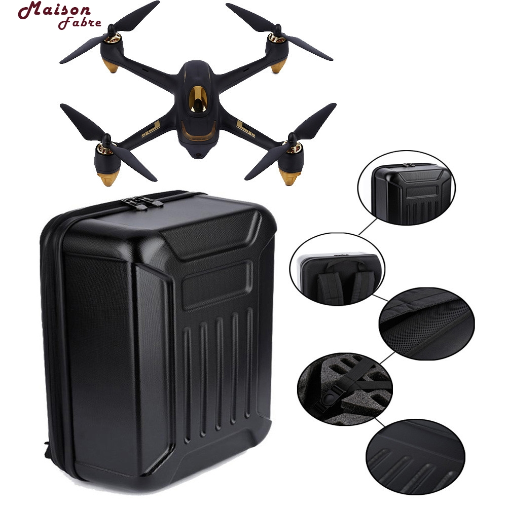 Maison Fabre Black ABS Hard Shell Backpack Case Bag For Hubsan X4 H501S Quadcopter hard shell backpack case bag for hubsan x4 h501s rc quadcopter
