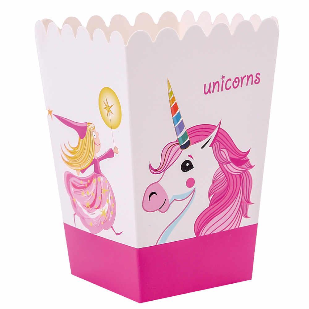 Bebek duş pembe Unicorn tema doğum günü partisi tek kullanımlık parti sofra kağıt tabak bardak bayrak afiş peçete dekor malzemeleri, Q