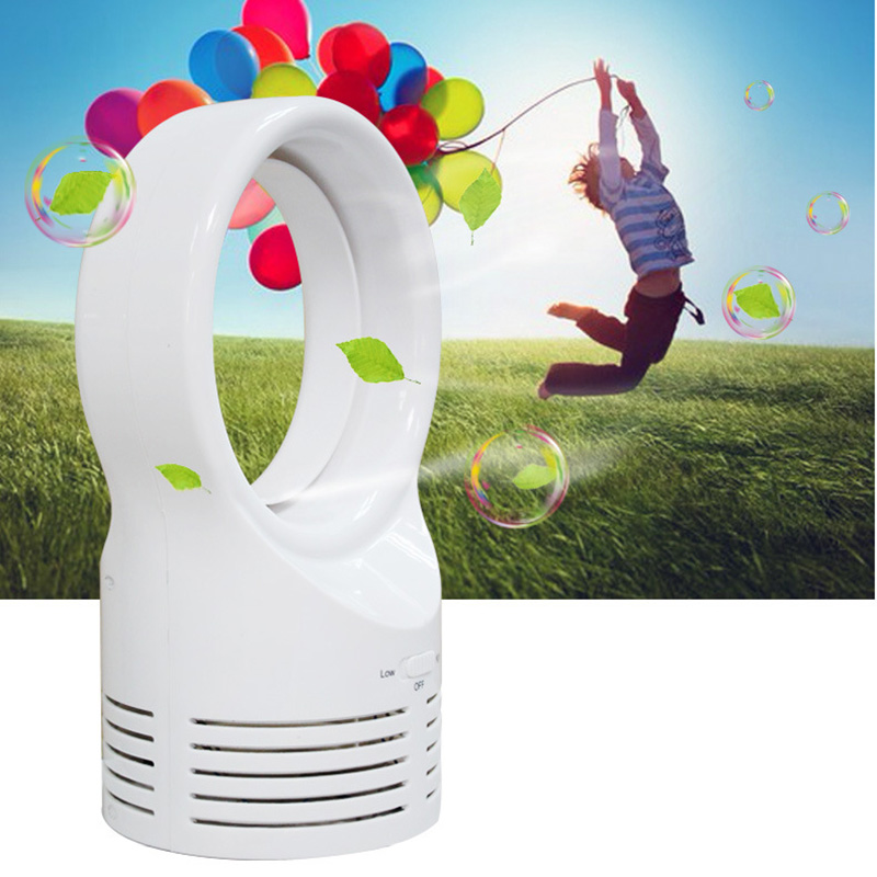 Hot Fashion Mini Bladeless Fan Sleeping Electric Cooling Super Quiet Two Speed Air Fans for Home Students HY99 JU28