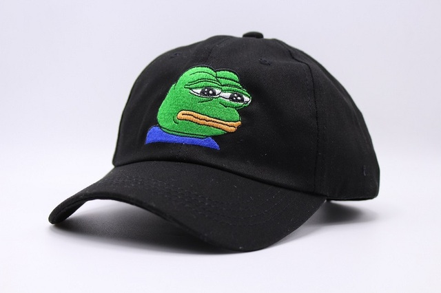 New Black Sad Frog Pepe Feels Bad Man Snapback Baseball Cap Feels Good Man  Meme Sad