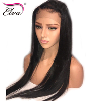 Elva Hair Lace Front Human Hair Wigs Straight Brazilian Remy Hair Lace Frontal Wigs Pre Plucked Hairline With Baby Hair 8 26''