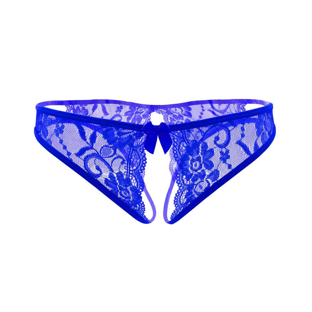 Wanita Seksi Pakaian Dalam Wanita Panas Erotis Celana Dalam Seksi Terbuka Selangkangan Porno Renda Pakaian Dalam Crotchless Celana Dalam Seks Memakai Celana dengan Busur Depan
