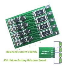 4S 100mA Lithium Battery Balance Board 18650 Li-ion Balancing Balancer Current 14.8V 16.8