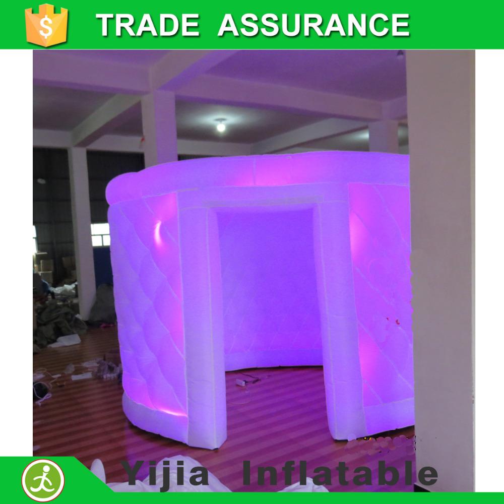 Color booth online - New White Lighting Led Oval Inflatable Photo Booth