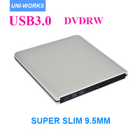 Super Slim USB 2 0 Slot In Portable Optical COMBO Driver Plug And Play