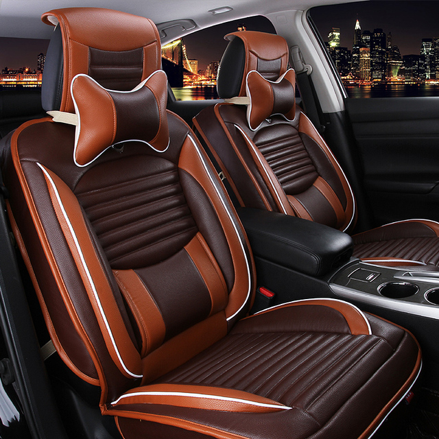 Fashion 100 Leather Seat Covers 3D Surround Car 5 Seats Universal Best
