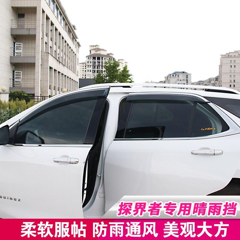 Pour Chevrolet Equinox 2018-2019 4 pièces/ensemble couverture de carrosserie en plastique fenêtre en verre pare-Vent pluie/pare-soleil accessoires de ventilation