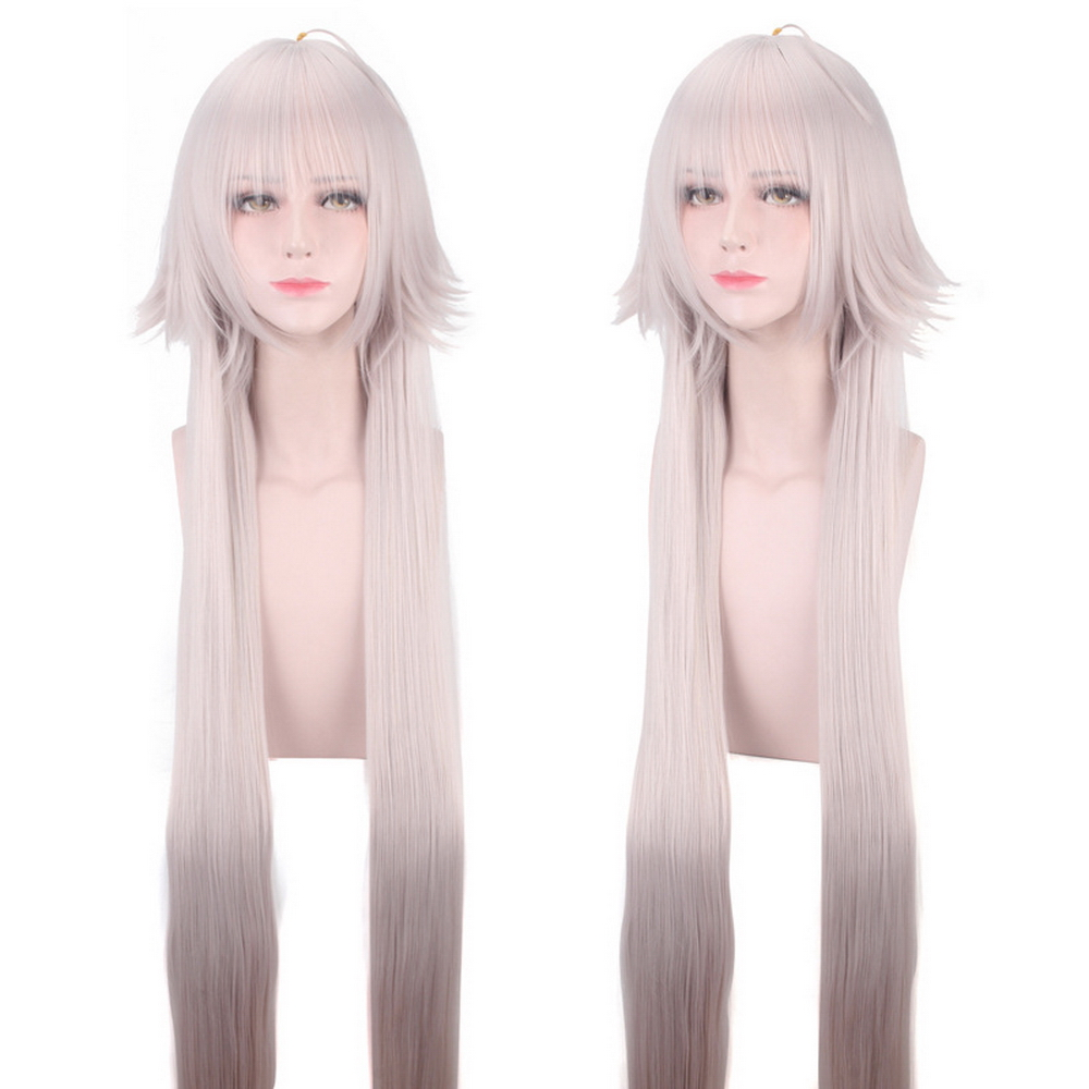 Anime Fate/Grand Order Jeanne d'Arc Alter Wig Cosplay Costume Joan of Arc Heat Resistant Synthetic Hair Wigs For Women + Wig Cap